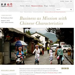 Business as Mission with Chinese Characteristics