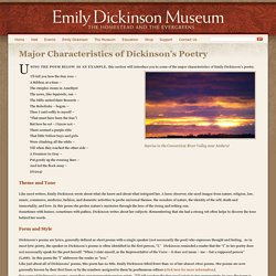 Major Characteristics of Dickinson's Poetry