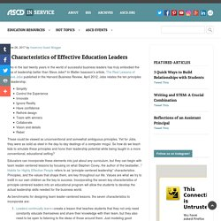 7 Characteristics of Effective Education Leaders