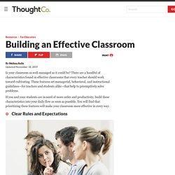 Characteristics of an Effective Classroom