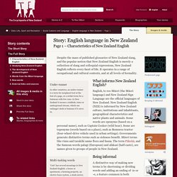 Characteristics of New Zealand English – English language in New Zealand