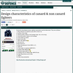 characteristics of canard & non canard fighters
