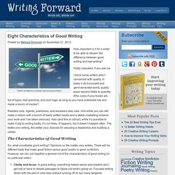 The Characteristics of Good Writing