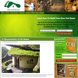 14 Characteristics of Cob Homes - This Cob House