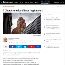 7 Characteristics of Inspiring Leaders