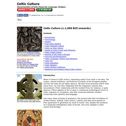 Celtic Culture: Characteristics of Visual Art, Language, Religion