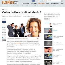 What are the Characteristics of a Leader? dership Skills