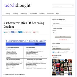 4 Characteristics Of Learning Leaders