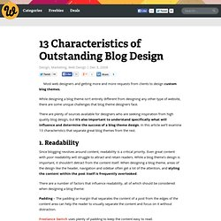 13 Characteristics of Outstanding Blog Design