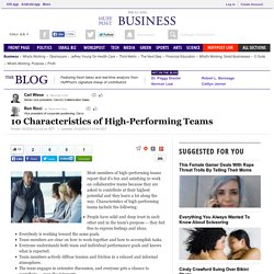 10 Characteristics of High-Performing Teams