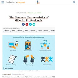 Common Characteristics of Millenial Professionals