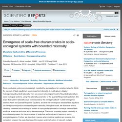 Emergence of scale-free characteristics in socio-ecological systems with bounded rationality : Scientific Reports