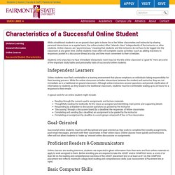 Characteristics of a Successful Online Student
