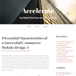 9 Essential Characteristics of a Successful E-commerce Website Design -1