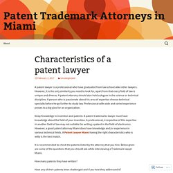 Patent Trademark Attorneys in Miami