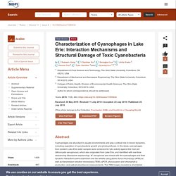 TOXINS 26/07/19 Characterization of Cyanophages in Lake Erie: Interaction Mechanisms and Structural Damage of Toxic Cyanobacteria