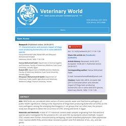 VETERINARY WORLD 24/09/17 Characterization and zoonotic impact of Shiga toxin producing Escherichia coli in some wild bird species