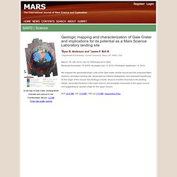 The MARS Journal Vol 5, pp 76-128 - Geologic mapping and characterization of Gale Crater and implications for its potential as a Mars Science Laboratory landing site