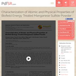 ESR Study of Manganese Sulfide Powder