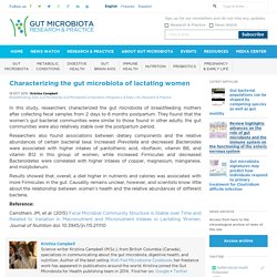 Characterizing the gut microbiota of breastfeeding mothers