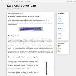 PCB as a Capacitive Soil Moisture Sensor