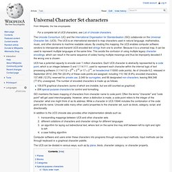 Mapping of Unicode characters