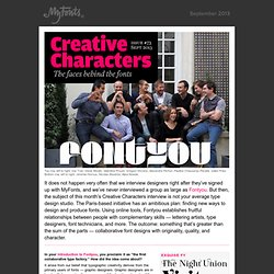 Creative Characters interview with Fontyou, September 2013
