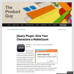 jQuery Plugin: Give Your Characters a NobleCount « The Product G