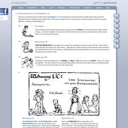 Grimm Grammar : characters : Die Einwohner in Schloßallee 18