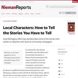 Local Characters: How to Tell the Stories You Have to Tell