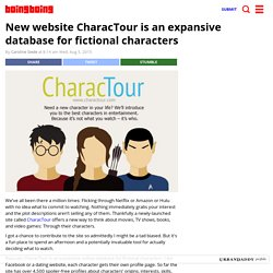 New website CharacTour is an expansive database for fictional characters - Boing Boing