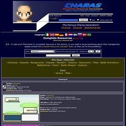 Charas, rpgmaker, the chara generator