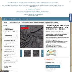 Tissu Eponge de Charbon de bambou qualité extra - gris anthracite uni - Oekotex