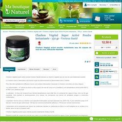 Charbon végétal super activé poudre instantanée - 150 gr - vecteur santé - charbon végétal actif