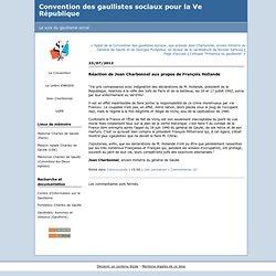 Réaction de Jean Charbonnel aux propos de François Hollande : Convention des gaullistes sociaux pour la Ve République