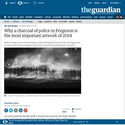 Why a charcoal of police in Ferguson is the most important artwork of 2014