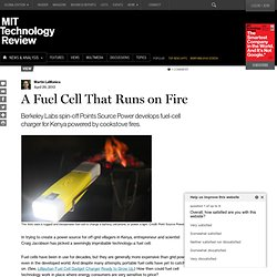 Fuel Cell Makes Power from Charcoal Fires