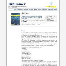 Médecine et Nutrition,1997, n° 1, p. 20-22 Teneurs en nitrites résiduels de quelques produits de charcuterie et plats cuisinés appertisés