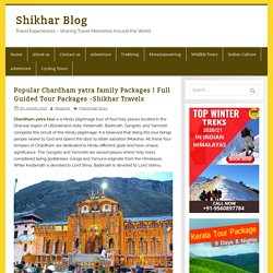 Book Chardham yatra family Package