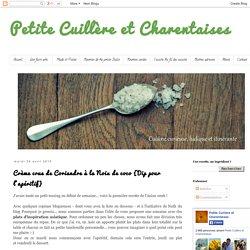 Petite Cuillère et Charentaises: Crème crue de Coriandre à la Noix de coco {Dip pour l'apéritif}