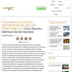 Et la Charente-Inférieure devint Maritime