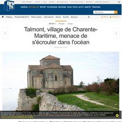 Talmont, village de Charente-Maritime, menace de s'écrouler dans l'océan