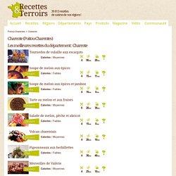 Charente : Recettes de Cuisine classées par Région de France