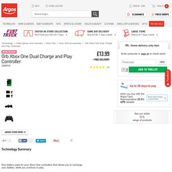 Buy Orb Xbox One Dual Charge and Play Controller at Argos.co.uk - Your Online Shop for Xbox One accessories.