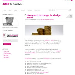 How much to charge for design work?