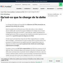 Charge et gestion de la dette, Agence France Trésor