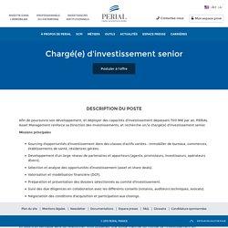 Chargé(e) d'investissement senior