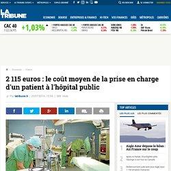 2 115 euros: le coût moyen de la prise en charge d'un patient à l'hôpital public