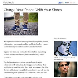 Charge Your Phone With Your Shoes