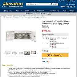 ChargeCabinet16 - 16 Chromebook and Mini-Laptop Charging Storage Cabinet